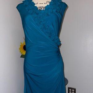 Maggy L - emerald green dress size 10